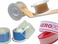 Image displaying three separate types of AeroPlast Strapping Tapes.