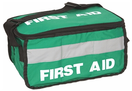 Image displaying a Large Green Empty First Aid Bag.