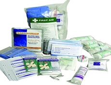 Image displaying a range of First Aid Kit Refill Supplies.