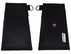 Image of the front and back of a First Aid Pouch for Pelican Seat Belts or Ligature Cutters.