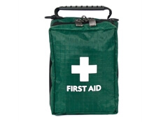 Image of a Empty First Aid Travel Kit with a belt loop and carry handle.