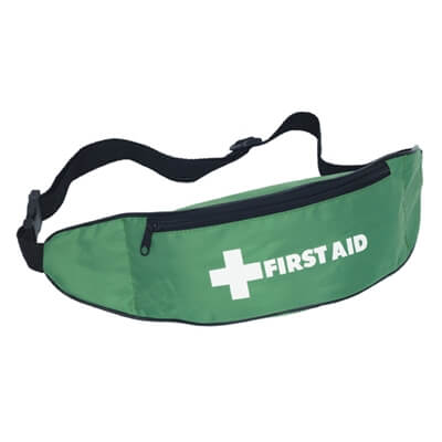 Image of a Empty First Aid Bum Bag with a zip and adjustable waste band.