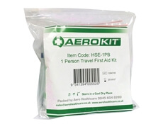 View of a closed Travel First Aid Kit In a Sealed Pouch showing how easy it is to transport.