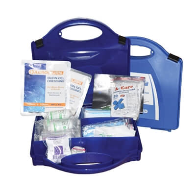 Image of an open Premium Large Catering First Aid Kit to show the kit's contents.